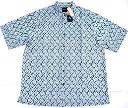 Tommy Bahama Big & Tall Alcazar Tiles Silk Camp Shirt Extra Large Tall (XLT)