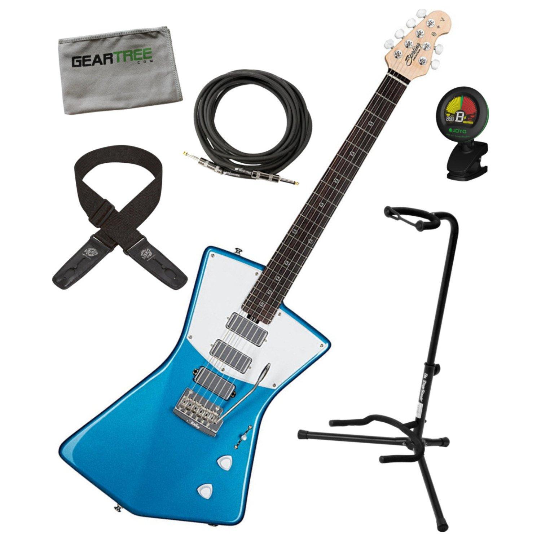 Cheap Sterling STV60 VBL St. Vincent Signature Electric Guitar Vincent Blue w/Gig Bag Black Friday & Cyber Monday 2019