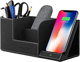 EasyAcc Wireless Charger Desk Stand Organizer Wireless Charging Station for iPhone 11 Pro X XS MAX XR 8 Plus and Samsung S7 Edge S8 S9 Plus Note 8 9and More, Desk Storage Caddy Pen Pad Holder