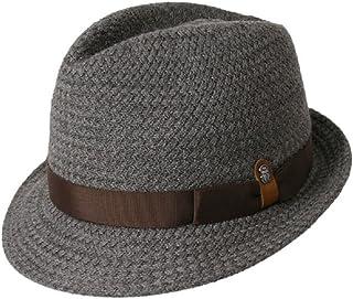 [DON Les belles modes(ドン・ベル・モード)] ウォッシャブルウール使用 石目編み中折れハット 07-219 (グレイッシュブラウン/ネイビー/ブラック)