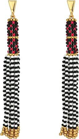 Seed Bead Tassel Drama Earrings