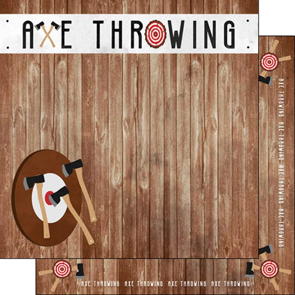 Scrapbook Max 60% OFF Customs sold out 39526 Axe Throwing Watercolor 12