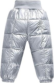 Pantalones De Invierno para NiñAs, Pantalones De AlgodóN Acolchados Gruesos Y CáLidos para NiñOs, Pantalones para NiñAs, R...