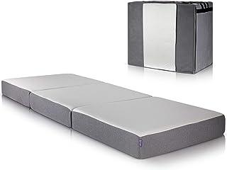Colchon Plegable con Capa de Espuma con Memoria para una gran Comodidad - Colchón Plegable con Bolsa Duradera para el Almacenamiento - Colchones para Cama de Diseño Moderno