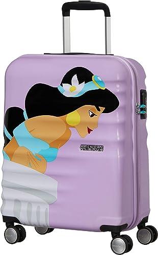 American Tourister Wavebreaker Disney Deluxe - Spinner S Bagage Cabine, 55 cm, 36 L, Violet (Jasmine)