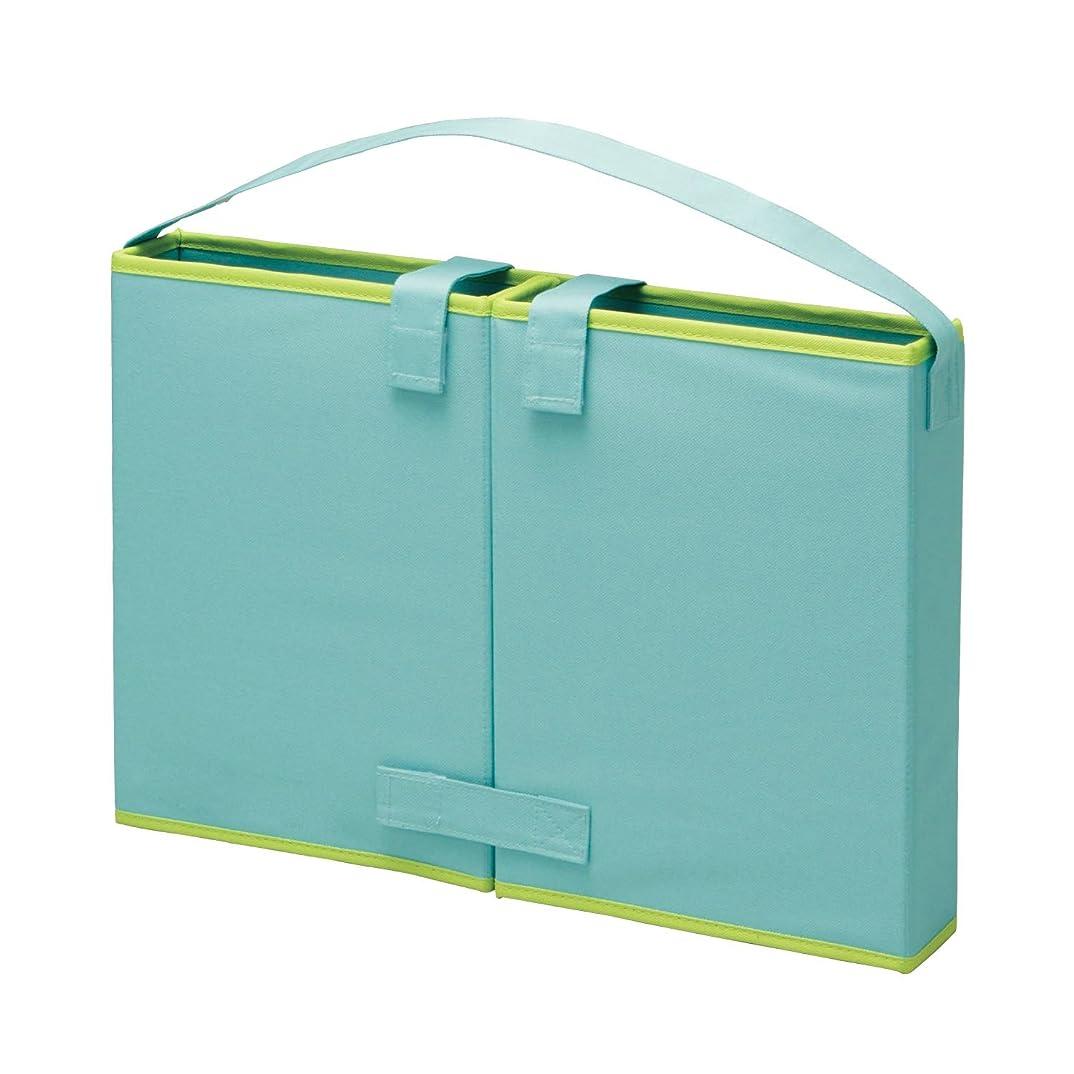 光景完璧な雇用者[ベルメゾン] どこでも自習室 収納ボックス ブルー