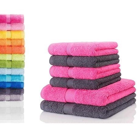 Duschtuch 70x120 cm Duschtücher Pink und Weiß schönes Design in 2 Farben