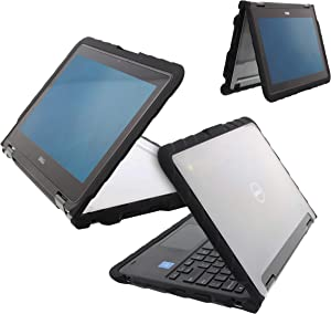 Gumdrop DropTech Case Designed for Dell 3190 and 3189 Latitude 2-in-1 Laptop for K-12 Students, Teachers, Kids - Black, Rugged, Shock Absorbing, Extreme Drop Protection