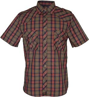 ROCK-IT Apparel® Camisa de Hombre de Ocio a Cuadros confeccionada en 100% algodón Mano de Obra Made in Europe Tallas S-5XL
