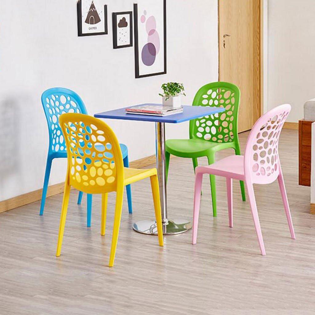 WDX- Chaise fauteuil en plastique moderne simple tabouret de bureau Chaise adulte d'ordinateur domestique créativité restaurant salle à manger chaise mode (Color : D) C