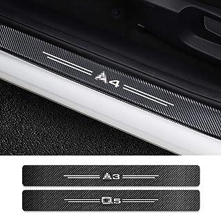 per Audi A4 B5 B6 B7 B8 A3 8P 8V 8L A5 A6 C6 C5 C7 A1 A7 A8 Q2 Q3 Q5 Q7 TT BAISHENG Autoadesivi della Protezione del Bordo del carico del Bagagliaio del paraurti Posteriore dellautomobile