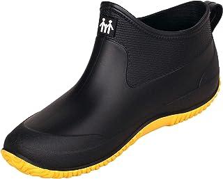 CELANDA Korte rubberlaarzen voor heren, regenlaarzen, antislip, tuinschoenen, outdoor, waterdichte schoenen, enkellaarzen,...