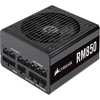 Corsair RM Series, RM850, 850 Watt, 80+ Gold Certified, Fully Modular Power Supply, Microsoft Modern Standby (CP-9020196-NA)