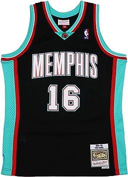 Mitchell & Ness Memphis Grizzlies PAU Gasol 16 Black Replica ...