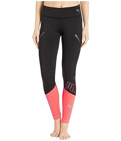 PUMA Runner ID Thermo-R+ 7/8 Tights (Puma Black/Ignite Pink) Women