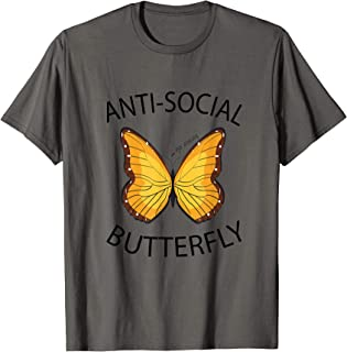 general3 Women Sleeveless Tank Tops Summer Fashion Anti-Social Butterfly Letter Print Yoga Workout Fitness Vest Shirt