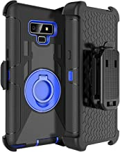 Fingic Samsung Note 9 Case,Samsung Note 9 Case with Clip,Full Body Heavy Duty Hybrid Holster Shockproof Kickstand Swivel Rugged Bumper Protective Case for Samsung Galaxy Note 9 6.4'' 2018,Blue