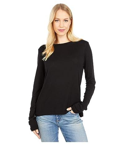Michael Stars Kristen 1X1 Slub Crew Neck T-Shirt