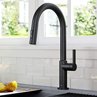 Kraus KPF-2820MB Oletto Single Handle Pull-Down Kitchen Faucet, 17 Inch, Matte Black