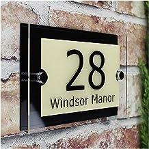 HNTKSM Huisnummer Aangepaste Transparante Acryl Huisnummer Plaques Teken Platen Huisborden Huisborden Met Vinyl Films En A...