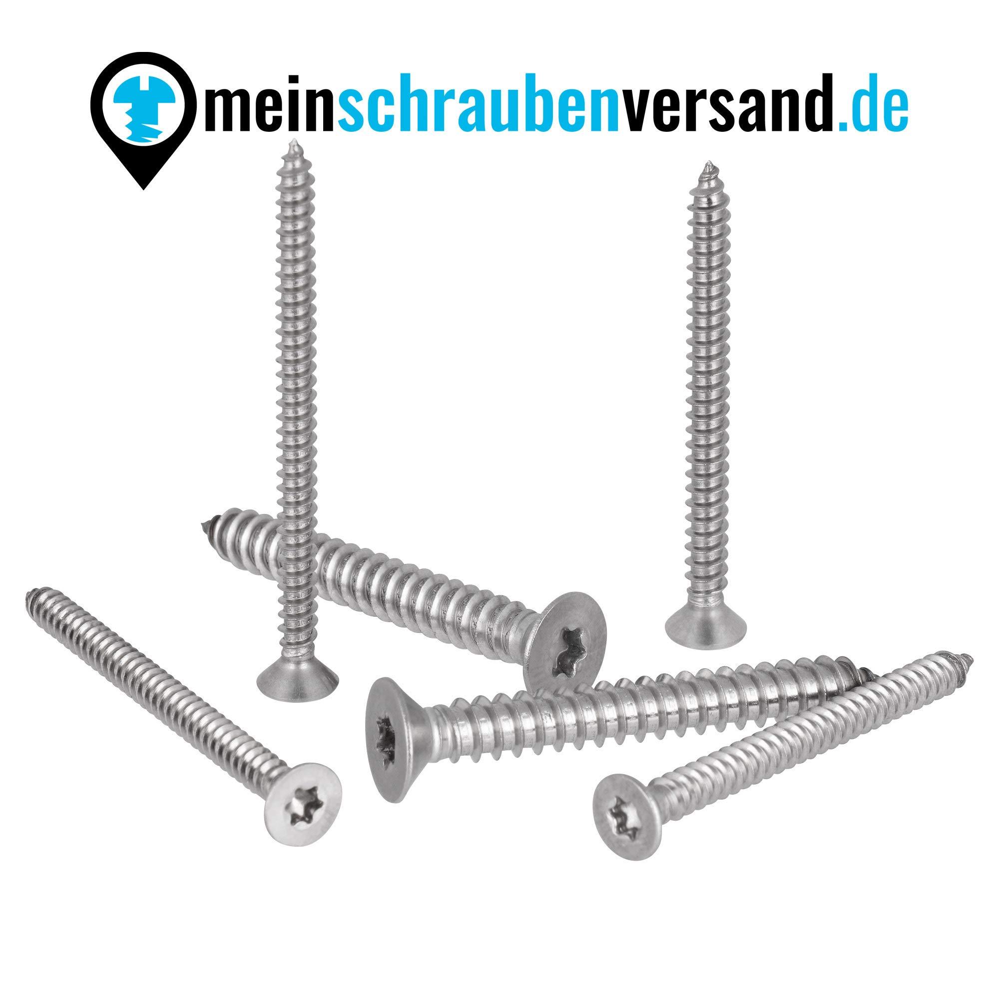 Blechschrauben Senkkopf 3,5x25 Torx Edelstahl ISO 14586 DIN 7982 Bohrspitze-selbstschneidend 3,5 x 25 mm 50 St/ück