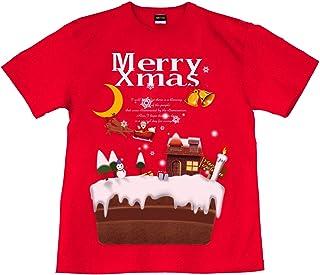 [GENJU] Tシャツ クリスマス ケーキ サンタクロース イベント 裏もデザイン有 メンズ キッズ