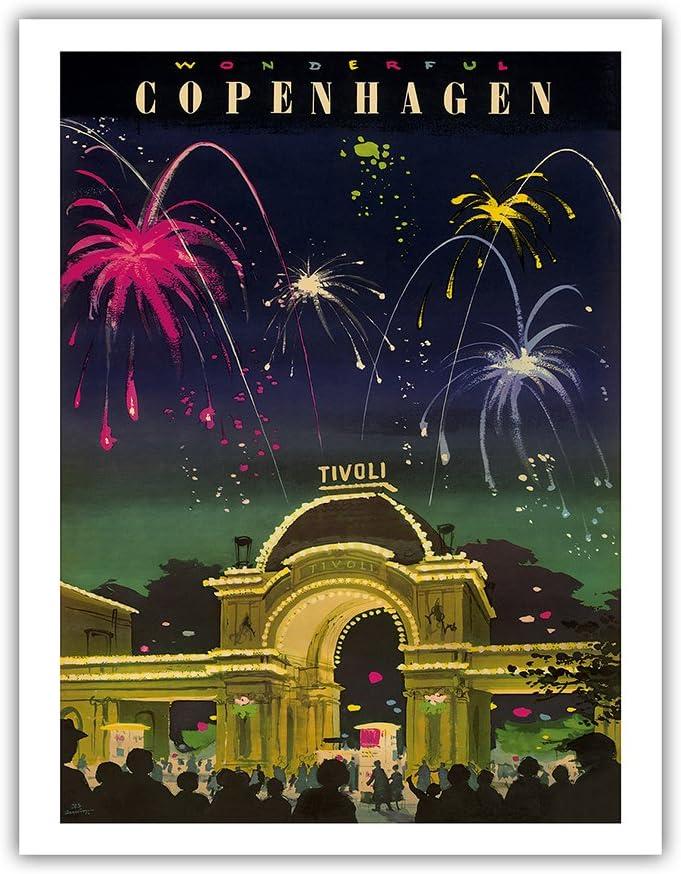 1983 Tivoli Gardens The Swineherd /& The Princess and the Pea Original Vintage Poster