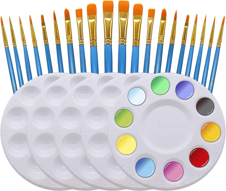 latest NODG Sales Paint Brush Set 20 Pieces with Artist Paintbrushes Piece 5