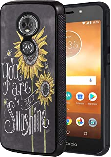Moto G7 Power Case,Moto G7 Supra Case,BWOOLL Slim Anti-Scratch Rubber Protective Cover for Motorola Moto G7 Power - You are My Sunshine