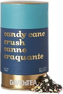 DAVIDsTEA Candy Cane Crush Loose Leaf Tea Mega Tin, Premium Black Tea with Crushed Candy Canes and White Chocolate, Festive Peppermint Tea, 250 Grams / 10 Ounces