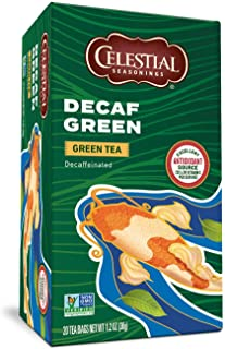 Celestial Seasonings, Green Tea, with White Tea, Decaf, 20 ct