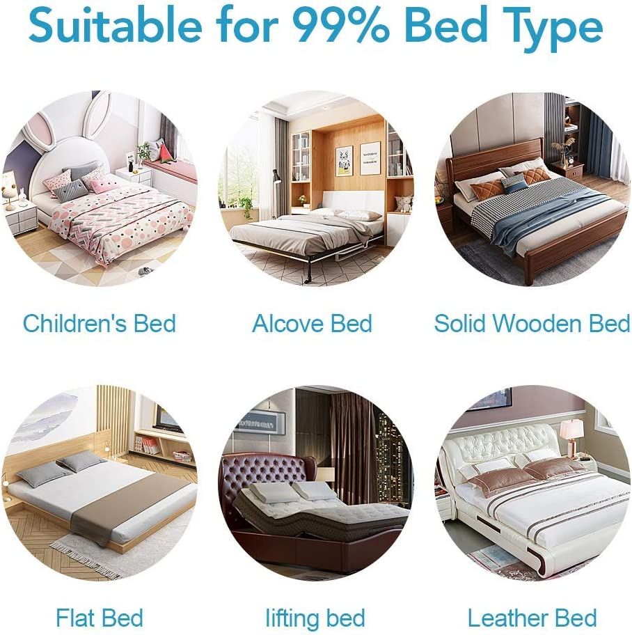 """/… SURPCOS Bed Rails for Toddlers Double 60/"""" 70/"""" 80/"""" Extra Long Baby Bed Rail Guard for Kids Twin Gray Full Size Queen /& King Mattress X30 1Side: 70 L H"""