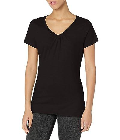 Hanes Shirred V-neck T-shirt