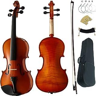 Aliyes Premium Violin 4/4 Full Size Professional Student Violin For Beginner Solid Wood Violin Kit String,Shoulder Rest,Ro...