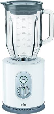 Braun JB5160 WH 1.6 Liter 1000 Watt Glass Jar Blender, 220V (Non-USA Compliant), White