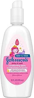 Johnson's Shiny & Soft Tear-Free Kids Conditioning Spray with Argan Oil, 10 Fl. Oz