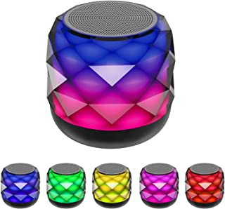 Wireless Bluetooth Speaker with LED Night Light Changing, Portable Speaker 6 Color LED Themes, Support Handsfree Call,Micr...