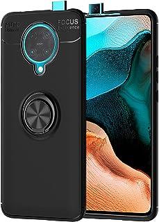 Xiaomi Poco F2 Pro Ring Case, Xiaomi Poco F2 Pro Ultra Thin Soft TPU Protective Case, Finger Loop Case with 360 Degree Rot...