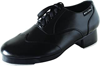 Miller & Ben Tap Shoes; Triple Threat; All Black - Wide Sizes