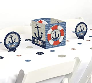 Big Dot of Happiness Ahoy Nautical - Baby Shower or Birthday Party Centerpiece & Table Decoration Kit