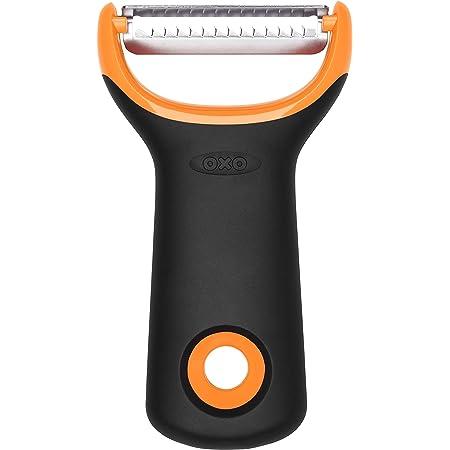 OXO Good Grips – Éplucheur de préparation pour juliennes - Éplucheur en inox - Orange et noir