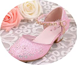 Sky-Pegasus Children Princess Sandals Kids Girls Wedding Shoes High Heels Dress Shoes Party Shoes