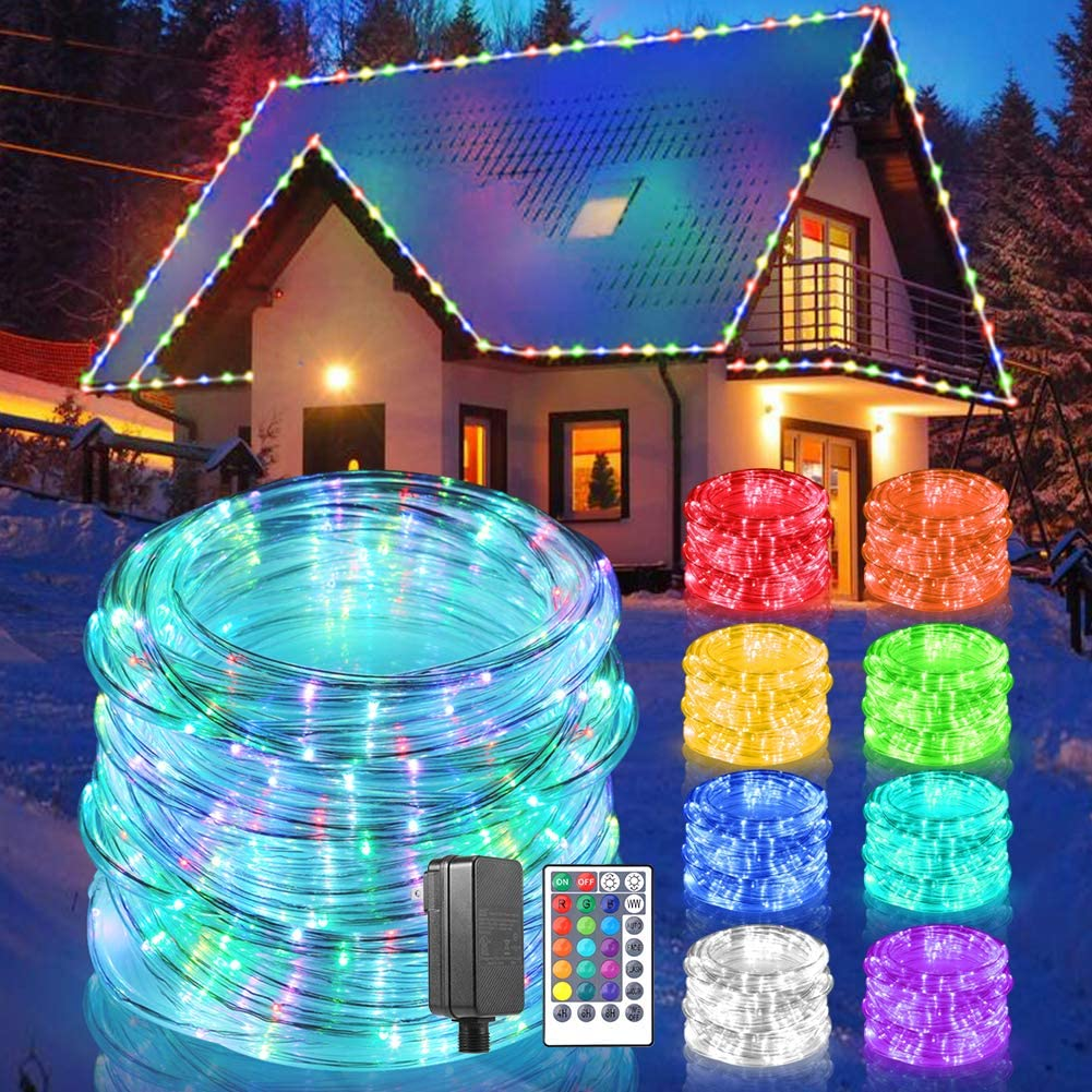 ALOVECO Rope Lights Outdoor 49ft Lowest price challenge Max 51% OFF LED 150 Color 17 String