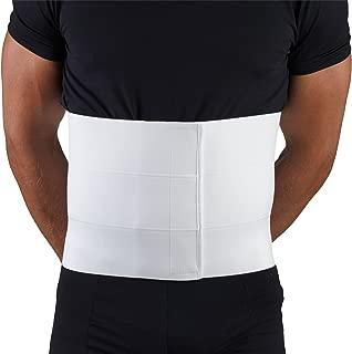 OTC Three-Panel Body Elastic Abdominal Binder for Men, White, Medium