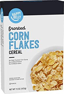 Amazon Brand - Happy Belly Frosted Flakes Cereal, 15 Ounce
