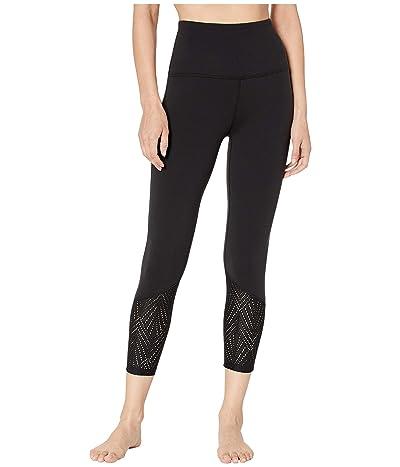 Beyond Yoga Mesh In Line High-Waisted Capri Leggings (Jet Black) Women