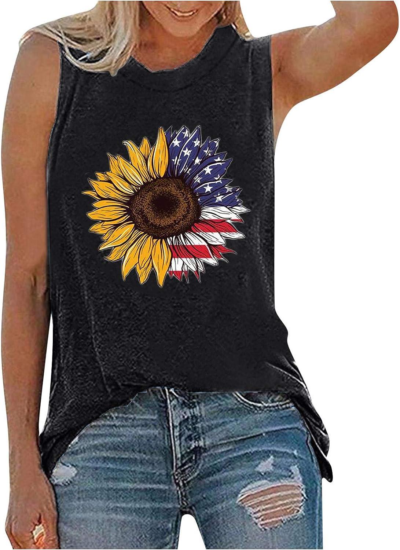 Sunlucky Women's Summer Basic Sleeveless Tank Tops Crew Neck Casual Shirts