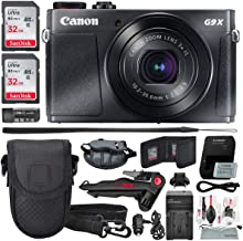 Canon PowerShot G9 X Mark II Digital Camera (Silver) W/Total of 64GB SD Card, and Deluxe Accessory Bundle