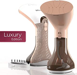 Bitzen Garment Steamer - 2019 Luxury Edition - Mini Steamer for home and travel - Powerful Fabric Steamer 900W - Effective Steam Ironing - 12 Minutes of Continuous Steaming