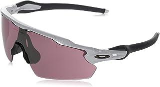 نظارات شمسية من اوكلي للرجال Oo9211 رادار إيف الملعب, (Polished White/Prizm Dark Golf), 38 mm